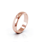 18K Gold Domed Profile 4.5MM High Polished Wedding Band