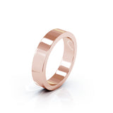 14K Gold Square Profile 4.5MM High Polished Wedding Band