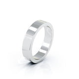 Platinum Square Profile 4.5MM High Polished Wedding Band