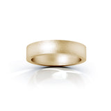 14K Gold Square Profile 4.5MM Matte Finish Wedding Band