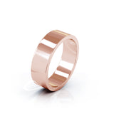 14K Gold Square Profile 6MM High Polished Wedding Band