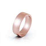 10K Gold Square Profile 6MM Matte Finish Wedding Band
