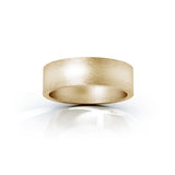 14K Gold Square Profile 6MM Matte Finish Wedding Band