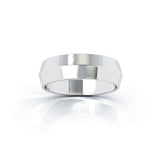 Platinum Triangle Profile 6MM High Polished Wedding Band