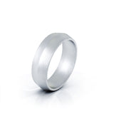 Platinum Triangle Profile 6MM Matte Finish Wedding Band