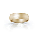 10K Gold Triangle Profile 6MM Matte Finish Wedding Band