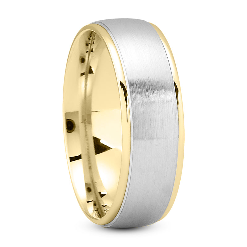 14K Gold Unisex Wedding Band, 7 MM