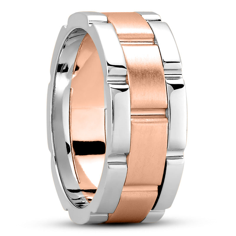 14K Gold Unisex Wedding Band, 9.5 MM