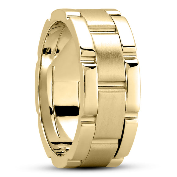 14K Gold Unisex Wedding Band, 8.5 MM