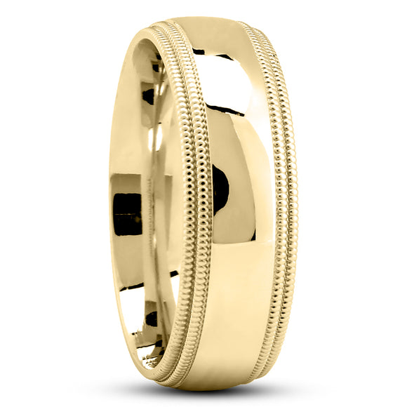 14K Gold Unisex Wedding Band, 8 MM