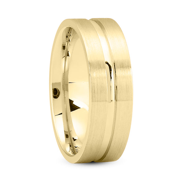 14K Gold Unisex Wedding Band, 6 MM