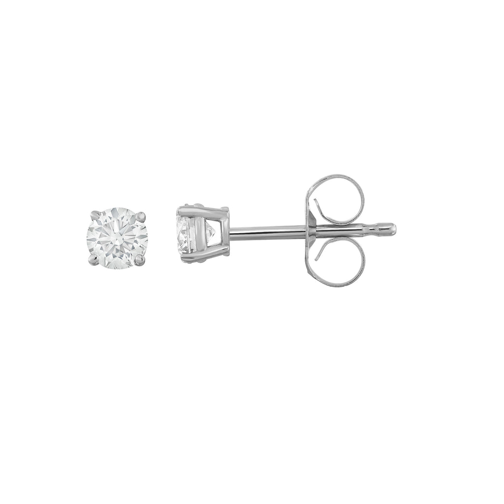 IGI Certified 14K  Gold Diamond (0.25 Ct, I-J Color, I1-I2 Clarity) Stud Earrings