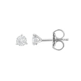 IGI Certified 14K White Gold Diamond (0.25 Ct, I-J Color, I1-I2 Clarity) Martini Stud Earrings