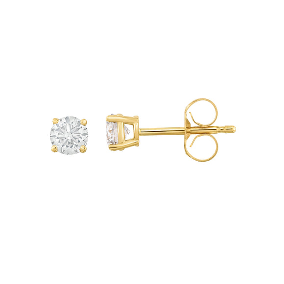IGI Certified 14K White Gold Diamond (0.33 Ct, I-J Color, I1-I2 Clarity) Stud Earrings