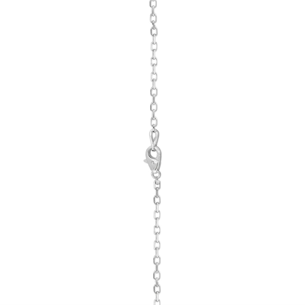 "14k White Gold Double-Row Diamond (0.95 Ct, G-H Color, SI2-I1 Clarity) Heart Necklace, 18"" Gold Chain"