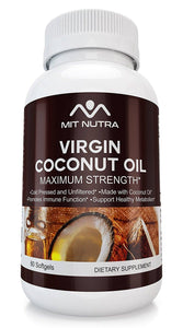 Virgin Coconut Oil (2000mg per serving) Cold-Pressed Organic - MIT Nutritions