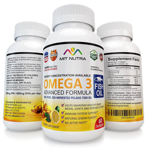 Omega 3 Fish Oil - MIT Nutritions