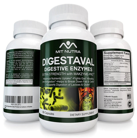 Digestaval  - Best Digestive Enzymes with Makzyme-Pro - Best Digestive Enzyme Supplements - Extra Strength