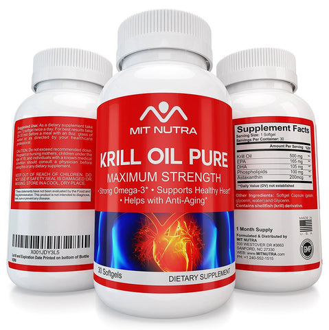 Krill Oil - Best Krill Oil Pure |Best Krill Oil Supplement | Omega 3 Krill Oil Supplement for women and men - Maximum Strength