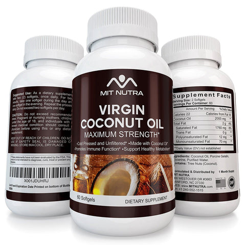 Virgin Coconut Oil (2000mg per serving) Cold-Pressed Organic
