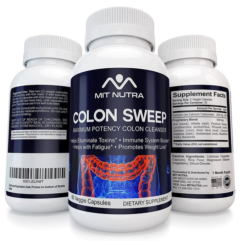 Colon Sweep - Best Colon Sweep - The Bet Colon Cleanse | Colon Cleanse For Women and Men | Colon Care | Colon Detox Pills | Maximum Potency Weight Loss Colon Cleanse