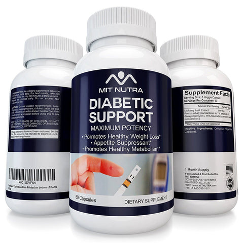 Diabetic Support - Best Diabetic Support - #1 White Mulberry Leaf | Low Blood Sugar | Rich in Antioxidants & Fiber Helps in Weight Loss | 60 Veggie Capsules Pills Natural Finest Quality Non GMO Premium Supplement