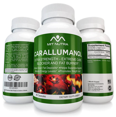 Carllumanol - Best Caralluma Fimbriata Weight Loss Support Supplement, Natural Appetite Suppressant for Women & Men Supportive Carb Blocker Diet Pills, Metabolism Booster and Fat Burner