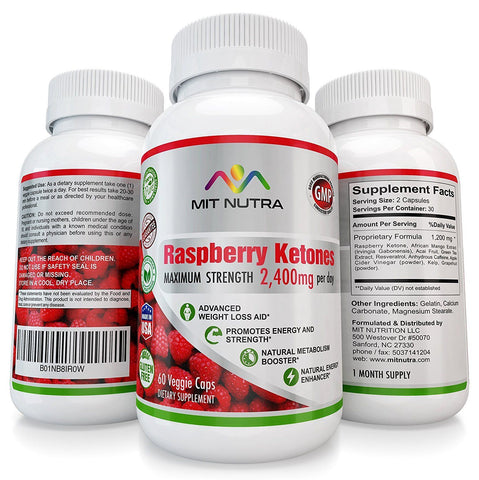 Raspberry Ketones - 100% Pure 1350 mg per day!