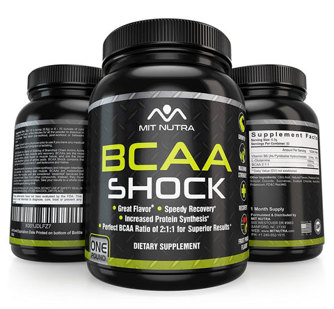 The Best BCAA Shock - Maximum Strength - Recovery - Growth - Strength - Fruit Punch Flavor