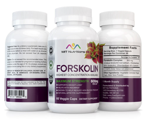 Forskolin 1 bottle - 1 month supply - 60 veggie caps - MIT Nutritions