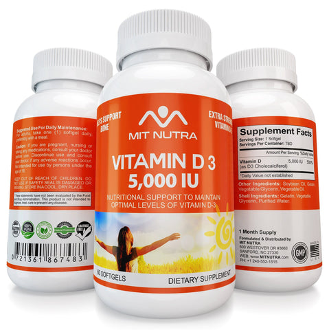 Vitamin D3 - 5,000 IU in Tiny Soft Gels, Easy to Swallow!