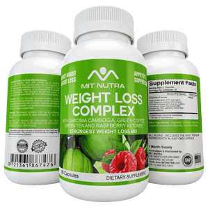 Weight Loss Complex - All in One - Garcinia Cambogia, Green Coffee, Green Tea and Raspberry Ketones - MIT Nutritions