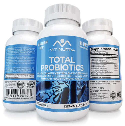Total Probiotics - 40 Billion CFU with MAKTREK Technology - MIT Nutritions