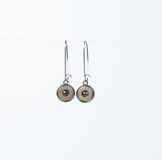 Twilight Radiance 45 Caliber Dangle Earrings with Black Diamond Swarovski Crystals