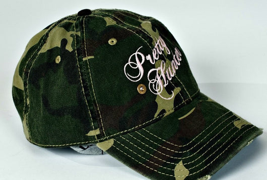 Pretty Hunter Camo Couture Embroidered Logo Hat