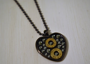 Pretty Hunter Ammo Jewelry with Black Diamond Swarovski Crystals