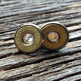 Brilliant Babe 45 Caliber Stud Earrings with Clear Swarovski Crystals