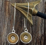 Brilliant Babe 45 Caliber Dangle Earrings with Clear Swarovski Crystals