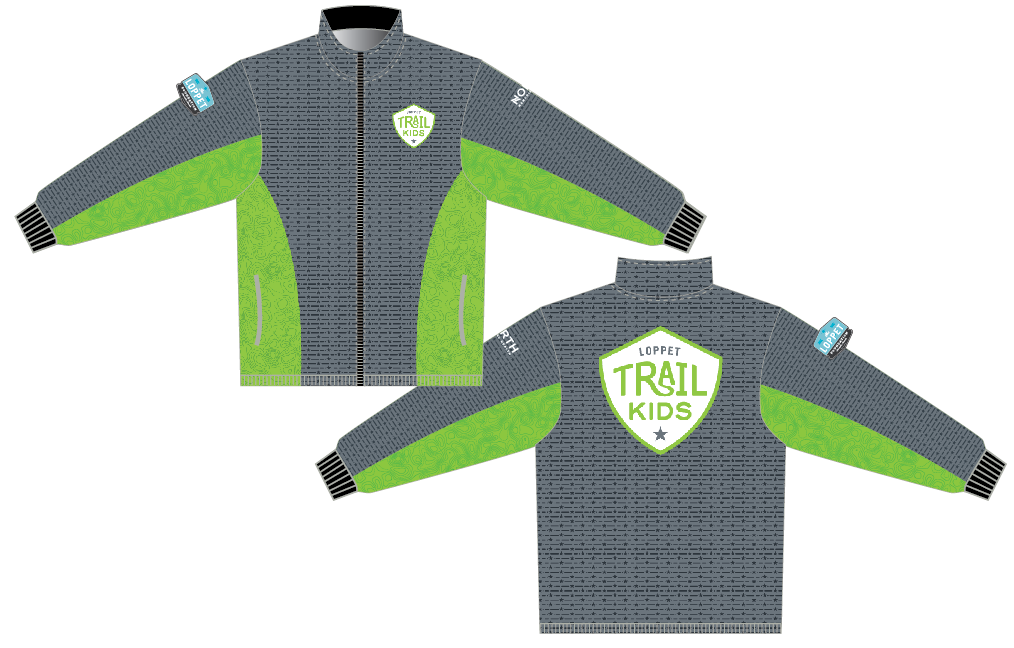 Loppet Trail Kids 2019 Youth & Adult Warm Up Jacket (HB711)