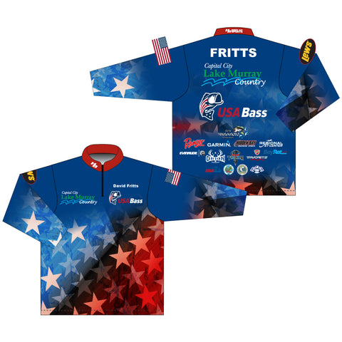USA Bass Team Jersey Long Sleeve - David Fritts