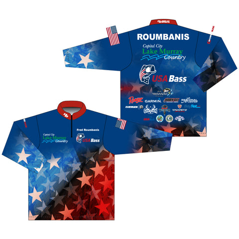 USA Bass Team Jersey Long Sleeve - Fred Roumbanis