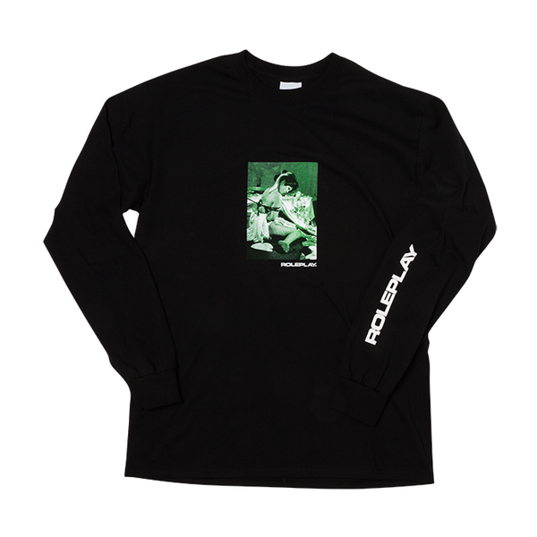 ROLEPLAY® 'Classic Kinbaku' long sleeve T-shirt (Black/Green/White)