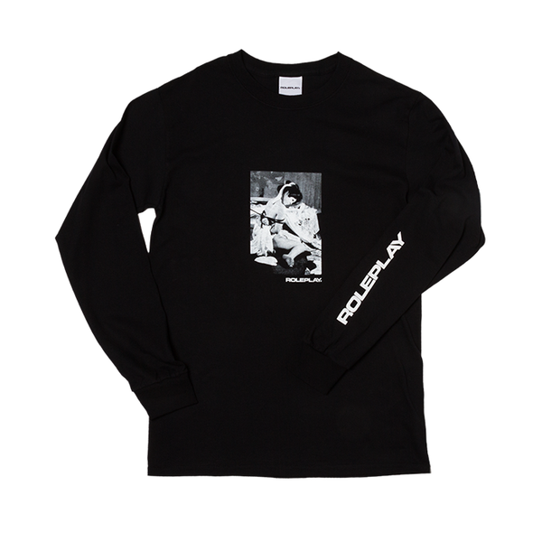 ROLEPLAY® 'Classic Kinbaku' long sleeve T-shirt (Black/white)