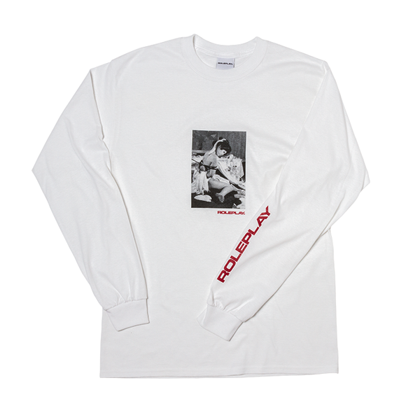 ROLEPLAY® 'Classic Kinbaku' long sleeve T-shirt (White/Red)