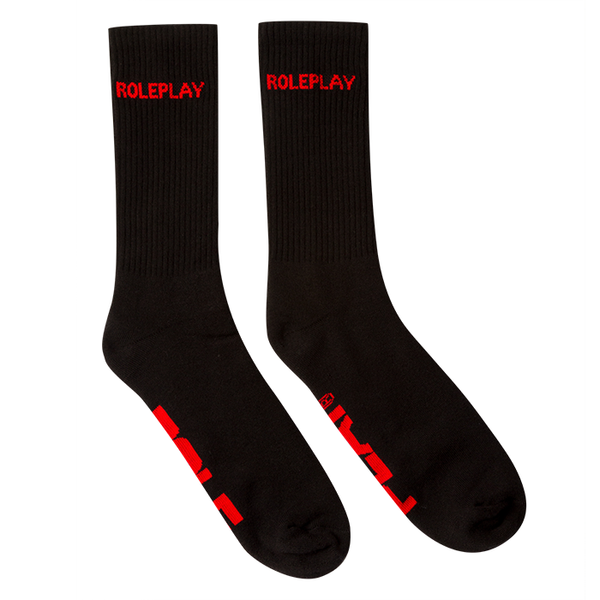 Physical Education Socks (Black/Red)