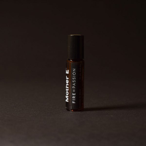Mother E FIRE::PASSION Essential Oils Blend, roll-on bottle