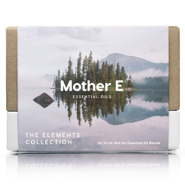 Mother E The Elements Collection Essential Oils Blends box of roll-on bottles