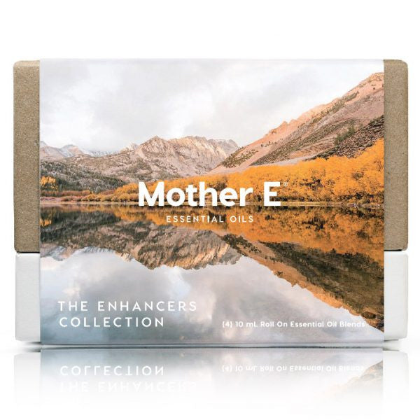 Mother E The Enhancers Collection Essential Oils Blends box of roll-on bottles