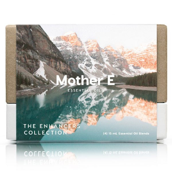 Mother E The Enhancers Collection Essential Oils Blends box of standard bottles