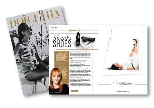 Shanks Shoeware is featured at Dolce Vita Diamond – a British luxury Lifestyle Magazine